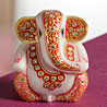 Gold Work Marble Ganesha with Kundans