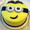 Yellow Minion Cake 1kg Chocolate